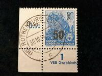DDR Deutsche Post 1954 - MiNr. 441  Fünfjahrplan, Eckstück mit Druckvermerk
