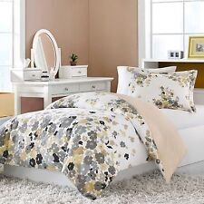 Anna Reversible Twin Duvet Cover and Sham Set