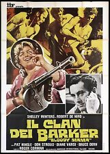 IL CLAN DEI BARKER MANIFESTO FILM ROGER CORMAN 1970 BLOODY MAMA MOVIE POSTER 4F