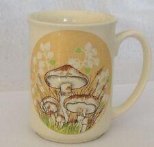 Otagiri Mug Coffee Tea Cup Mushroom Leaves Ivory Color 8 ounce