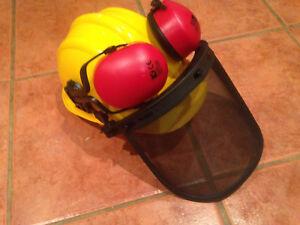 Texas Hard Hat Safety Helmet, Ear Defenders & Front Screen