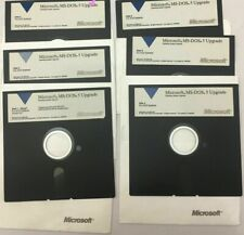"""Microsoft MS-DOS Operating System 5 Upgrade 5.25"""" Floppy Disks *TESTED*"""