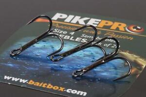 Pikepro NEW Predator Fishing Semi-Barbless Trebles Hooks *Full Range*