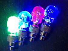 1 INDIVIDUAL SKULL LED CAP bike valve stem flashing Light Bicycle Wheel Tire Car