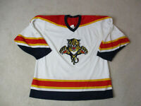 VINTAGE CCM Florida Panthers Hockey Jersey Adult Extra Large White SEWN 90s A82*