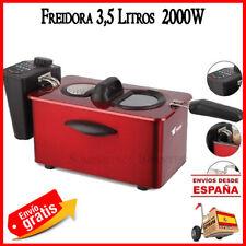 FRIGGITRICE ELETTRICO 3 LITRI 2000W ROSSO FRY CUCINA FILTRO CIBO, FRYER 3,5 LTS