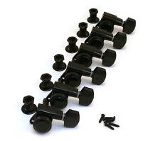 Schaller Black LOCKING 6 Inline Tuners for Strat/Tele® Guitar TK-0974-003