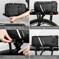 Waterproof Bike Bag Cycling Portable Bicycle Rear Rack Bag Seat Trunk Backpack