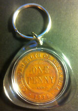 Awesome Collectible Australian 1934 Melbourne Mint Birthday Penny Key Ring