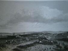 Gravure 19° Guerre Louis Philippe l'armée Française à Mascara Algérie 1835