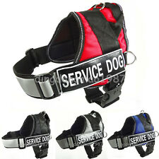Reflective Adjustable Nylon Service Dog Harness Vest with Handle patch Large Dog