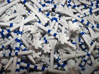 100 New 3.25 Champ Zarma Flytees Blue White Striped Golf Tees  3 & 1/4""