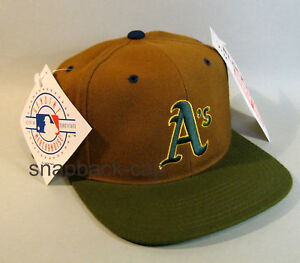 AMERICAN NEEDLE VINTAGE SNAPBACK CAP NOS ATHLETICS brown