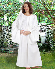 Medieval Chemise Under Dress Celtic Decorated 100% Cotton White NEW (C1081)
