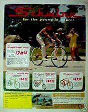 1968 Schwinn Orange Krate,Varsity, Bicycles Vintage Bikes Boys Kids Toy Trade Ad