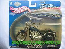 MOTO 1/18 HARLEY DAVIDSON  SPRINGER SOFTAIL   2000 BLISTER HOT WHEELS