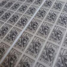 FOGLIO IN 2 PARTI SHEET FRANCOBOLLO TAPPETO FERRO N°618 x50 1944 NEUF LUXE MNH