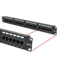 Cat5e UTP 24 Port Network LAN Patch Panel 1U 110 with cable management