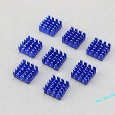 80pcs 15x15x8mm Blue Aluminum Heatsink For DDR VGA RAM IC Cooling With 3M Tape
