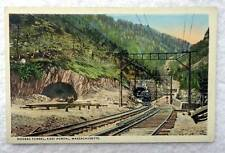POSTCARD HOOSAC TUNNEL EAST PORTAL RAILROAD TRAIN LOCOMOTIVE MASSACHUSETTS #MM8