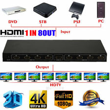 Ultra HD 4K HDMI Splitter 1X8 8 Port Repeater Amplifier Hub 3D 1080p 1 In 8 Out