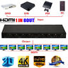 Ultra HD 4K HDMI Splitter 1X8 8 Port Repeater Amplifier Hub 3D 1080p 1 In 8 Out