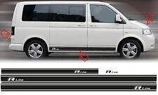 Volkswagen VW T4/T5 R Line Custom Seitenstreifen Autostreifen Aufkleber