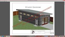 PLANS Studio Garage Blueprints Plans Mancave Building Plan Contemporary Shed