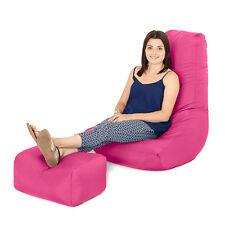 Pink Bean Bag Gamer Foot Stool Gaming Arm Chair Beanbag Seat Water Resistant