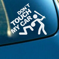 White Don't Touch My Car Sticker Vinyl Decal for Auto Car Bumper Vehicle Window