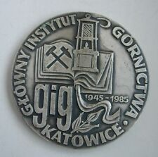 Polish Poland Cu Ag Fe Mg K Zn mining industry geology metallurgy Medal
