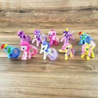 """My Little Pony Lot Of 10 Figures Brushable. 3"""" Tall. McDonald's Happy Meal Toys!"""