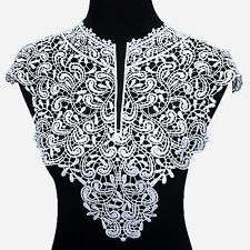 Embroidery Flowers Lace Neckline Fabric Solid Collar For Sewing Supplies DIY NEW