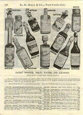 1910 ADVERTISEMENT Macy's New Popular Perfume Farina Cologne Bottles