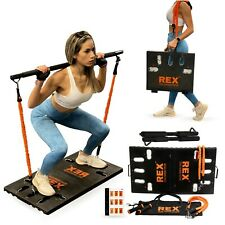 REX Portable Home Gym Exercise Equipment Adjustable Resistance Bands Machine
