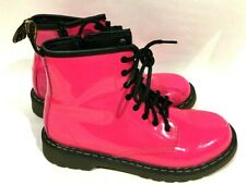Doc Martens Hot Pink Delaney Boots Women's Size 5 8 Lace Eyes