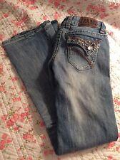 Zana Di Jeans 3 Bling Light Boot Cut Distressed Women's Denim Life FREE SHIPPING