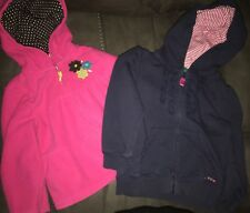 Lot of 2 Carters 24months 24m 2t Sweater Pink And Blue Girls Winter Holiday