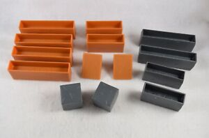 Angry Birds Space Building Blocks Lot 14 Girders Stone Cubes Triangles  #ABS06