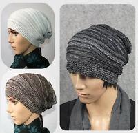 Unisex Women Men Adult Knit Beanie Slouchy Winter Hat Warm Ski Skull Cap Bonnet