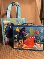 Adorable Disney Pixar Finding Dory tin lunch box/carryall and tote bag