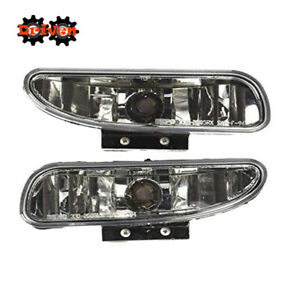 94-98 Ford Mustang Chrome Clear Fog Light Lamp + Harness+ on/off Switch