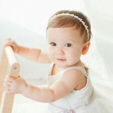 Baby Girls headband Princess Bowknot Pearl Headbands Elastic Flower Hair Bands
