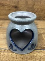 Rockdale Union Stoneware Pottery Heart Cut Out Votive Holder 1995