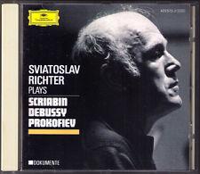 Sviatoslav RICHTER: PROKOFIEV Piano Sonata No.8 SCRIABIN 5 DEBUSSY Estampes CD