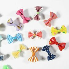 Mini Bow Hairgrips For Girls Whole Wrapped Safety Hair Clips Kids Hairpins 10pcs
