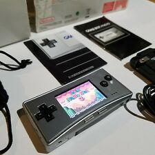 GameBoy Micro Silver Nintendo GBA Fully Complete in Box Rare