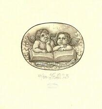 Exlibris Etching  Bookmark:  Fedorenko