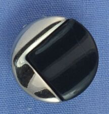 16mm Black / Silver Shank Button (x 2 buttons)