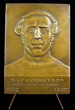 Médaille à Benoît Fourneyron turbine hydrolique Crozet Joanny-Durand 1932 Medal